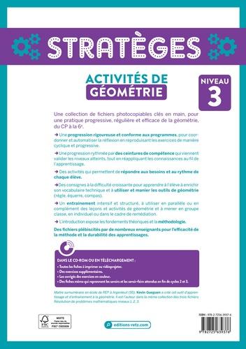 Activités de géométrie. Niveau 3  avec 1 Cédérom
