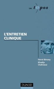 Khadija Chahraoui et Hervé Bénony - L'entretien clinique.