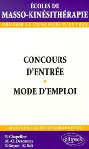 Concours dentrée des écoles de masso-kinésithérapie. Mode demploi.pdf
