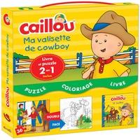 Kim Thompson - Caillou ma valisette de cowboy - Contient 1 livre et 1 puzzle 2 en 1.