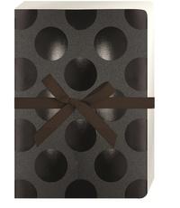 KIUB - Carnet Go Stationery A5 Shimmer Pois noirs fond noir