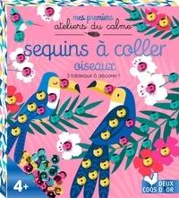 Klara Hawkins - Sequins à coller oiseaux - 3 tableaux à décorer ! Avec 270 sequins.