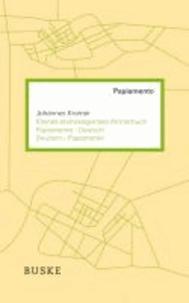 Kleines etymologisches Wörterbuch Papiamento-Deutsch.
