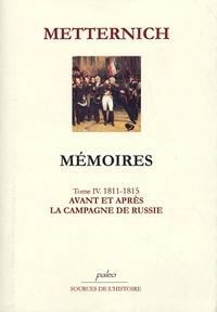 Satt2018.fr Mémoires Tome 4 (1811-1815) - Avant et après la campagne de Russie Image