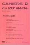 Klincksieck - Joë Bousquet.
