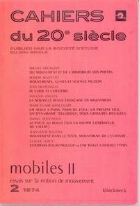 Klincksieck - Mobiles 2 - Essais sur la notion de mouvement.