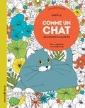 Knapfla - Comme un chat - 100 dessins à colorier.
