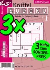 Kniffel-Sudoku 3er-Band 01 - Schwierigkeitsgrad: mittel/schwer.