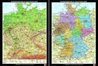 Klett - Deutschland, physisch/politisch - Wandkarte mit Stäben, abwaschbar - 1:650 000.