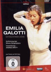 Gotthold Ephraim Lessing - Emilia Galotti - DVD Vidéo.