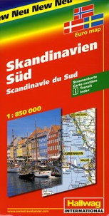 Hallwag International - Scandinavie du Sud - 1/850 000.