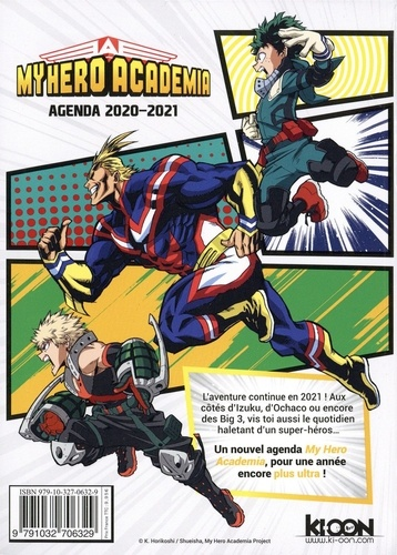 Agenda My Hero Academia  Edition 2020-2021