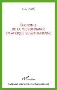 Komi Djadé - Economie de la microfinance en Afrique Subsaharienne.