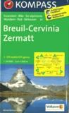 Kompass - Breuil-Cervina Zermatt - 1/50 000.