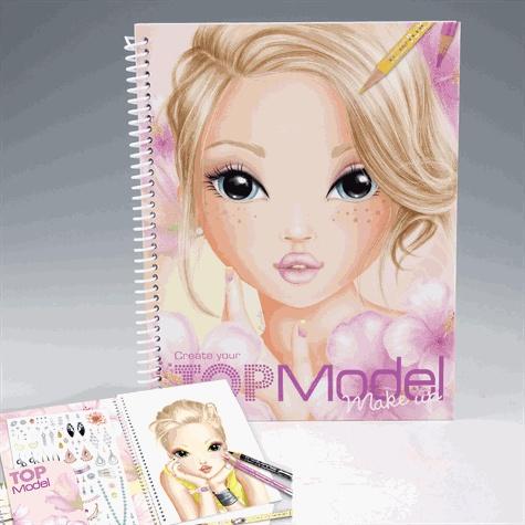 Album De Coloriage Top Model Visages Kontiki Papeterie Decitre