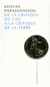 DE LA CRITIQUE DU CIEL A LA CRITIQUE DE LA TERRE. - Litinéraire philosophique du jeune Marx.pdf