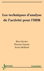Kovacs - Les techniques d'analyse de l'activité pour l'interaction homme-machine.