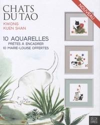 Kuen Shan Kwong - Chats du Tao - 10 aquarelles prêtes à encadrer et 10 marie-louise offertes.