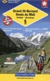 KuF Schweiz Wanderkarte 22 Grand-St-Bernard / Dents due Midi 1: 60 000 - Verbier - Ovronnaz.