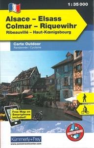 Kümmerly + Frey - Alsace Colmar Riquewihr - 1/35 000.