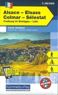 Kümmerly + Frey - Alsace Colmar Sélestat - 1/50 000.