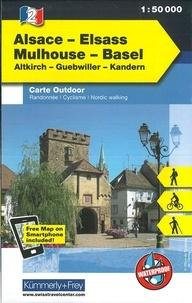 Kümmerly + Frey - Alsace Mulhouse Basel - 1/50 000.