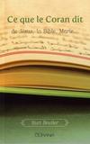 Kurt Beutler - Ce que le Coran dit de Jésus, la Bible, Marie....