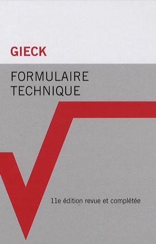 Kurt Gieck et Reiner Gieck - Formulaire technique.