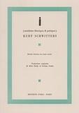 Kurt Schwitters - i (manifestes théoriques et poétiques).
