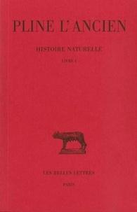 L'ancien Pline et Alfred Ernout - Histoire naturelle : livre 1.