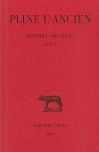 L'ancien Pline et Eugène de Saint-Denis - Histoire naturelle : livre 9 des animaux marins.