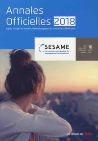 L'Etudiant - Concours SESAME - Les annales officielles.