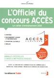 L'Etudiant - L'officiel du concours Accès - Cahier d'entraînement.