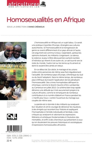 Africultures N° 96 Homosexualités en Afrique
