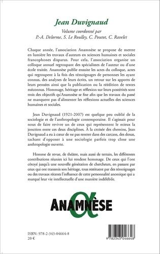 Anamnèse N° 9/2014 Jean Duvignaud