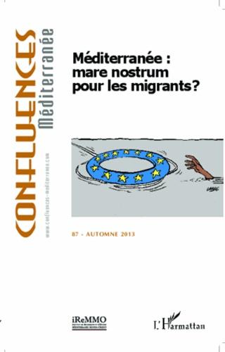 Confluences Méditerranée N° 87, automne 2013 Méditerranée : mare nostrum pour les migrants ?