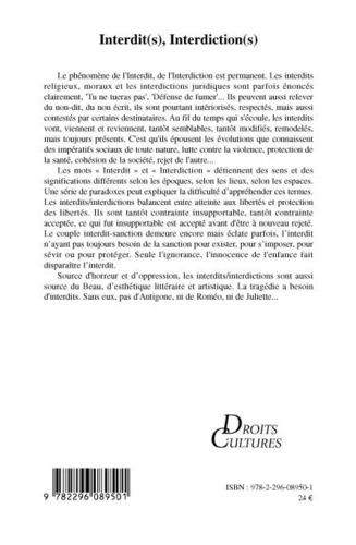 Droit et cultures N° 57-2009/1 Interdit(s), Interdiction(s)