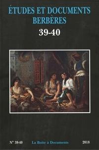 Ouahmi Ould-Braham - Etudes et documents berbères N° 39-40/2018 : .