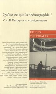 Luc Boucris - Etudes théâtrales N° 54-55/2012 : Qu'est-ce que la scénographie ? - Volume 2, pratiques et enseignements.