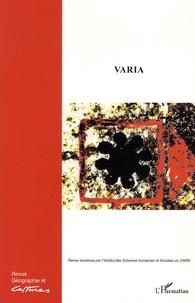 Erika Thomas et Mariette Sibertin-Blanc - Géographie et Cultures N° 84 hiver 2012 : Varia.