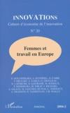 Virginie Delsart et Sébastien Richard - Innovations N° 20/2004-2 : Femmes et travail en Europe.