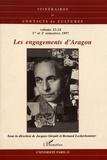 Jacques Girault et Bernard Lecherbonnier - Itinéraires et contacts de cultures N° 23-24/1997 : Les engagements d'Aragon.