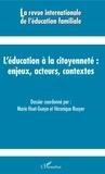 L'Harmattan - L'éducation à la citoyenneté - Enjeux, acteurs, contextes.