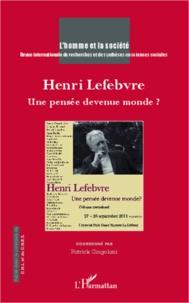 Patrick Cingolani - L'Homme et la Société N° 185-186, 2012/3-4 : Henri Lefebvre - Une pensée devenue monde ?.