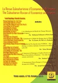Auguste Mpako Priso - La Revue Subsaharienne d'Economie et de Finance N° 10, octobre 2018 : The Subsaharian Review of Economics and Finance.