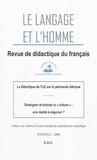 Luc Collès - Le Langage et l'Homme Volume 44 N° 2, 2009 : La didactique du FLE sur la péninsule ibérique.