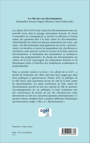 Les cahiers de la LCD N° 1 La ville face aux discriminations