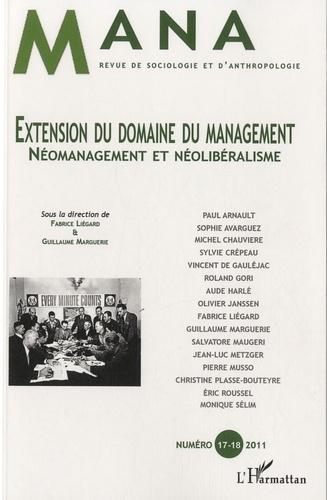 Fabrice Liégard et Guillaume Marguerie - Mana N° 17-18, 2011 : Extension du domaine du management.