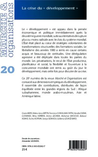 """Marché et Organisations N° 20 La crise du """"développement"""""""