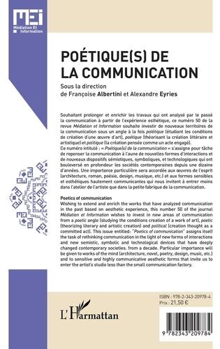 MEI N° 50 Poétique(s) de la communication